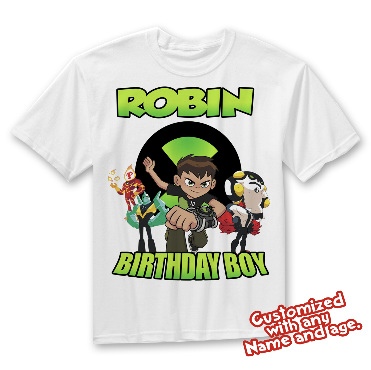 Ben 10 Birthday Shirt Personalized With Name And Age Pokemon