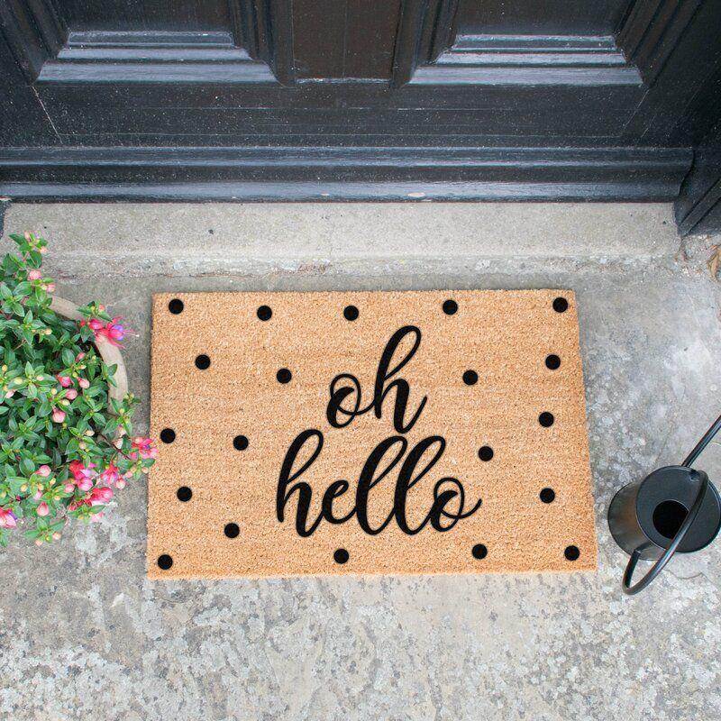Rushden Oh Hello Doormat In 2020 Hello Doormat Door Mat Diy Door Mat