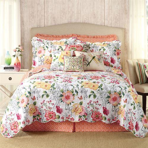 Amabelle Quilt Multi Bright Bed Linens Luxury Quilt Bedding Floral Quilt Bedding