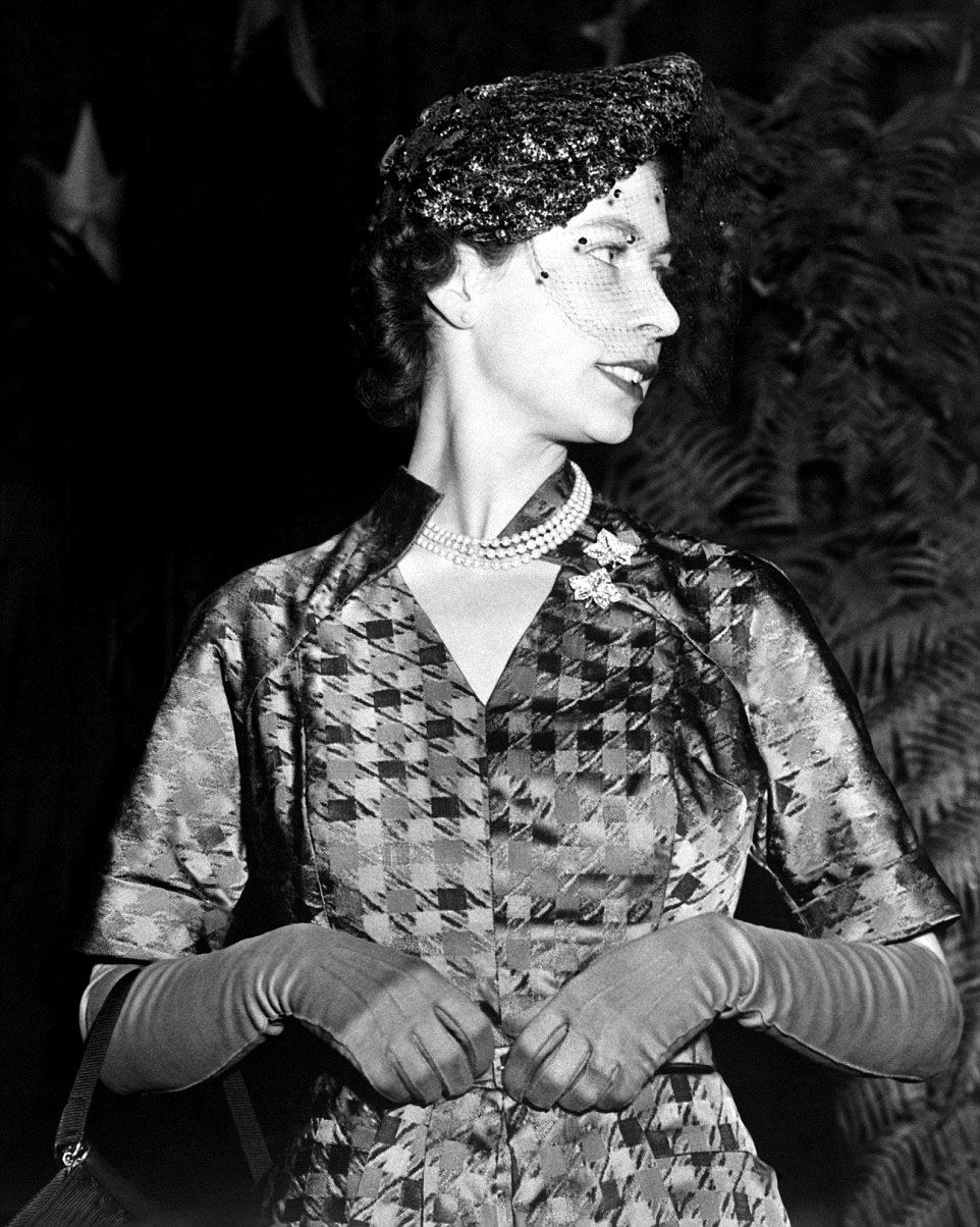 1951 Now a married mother of 2, Princess Elizabeth shows