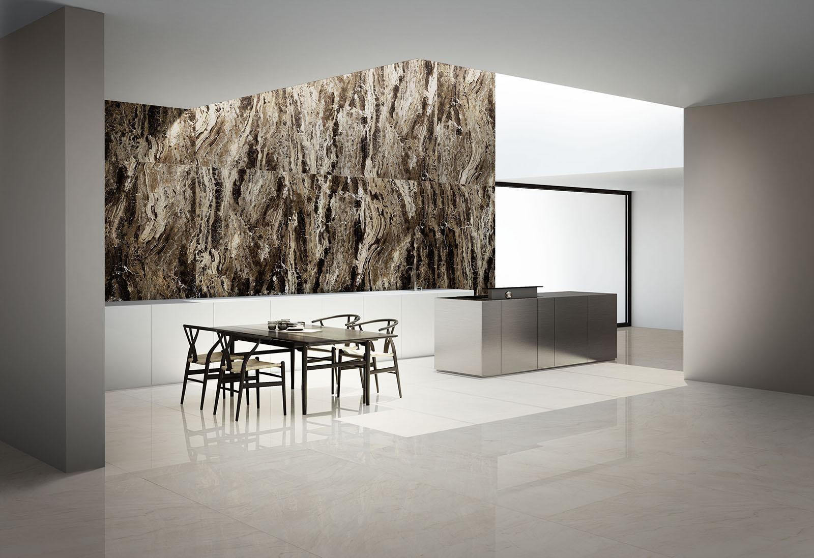 Grande marble look effetto marmo cucina pavimenti e parquet