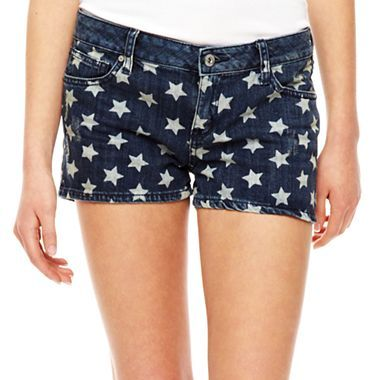 Arizona Star Print Shorts at JC Penny. Pair them with a form fitted red tee and some white platform wedge sandals the most PERFECT 4th of July outfit on the cheap! $15.00
