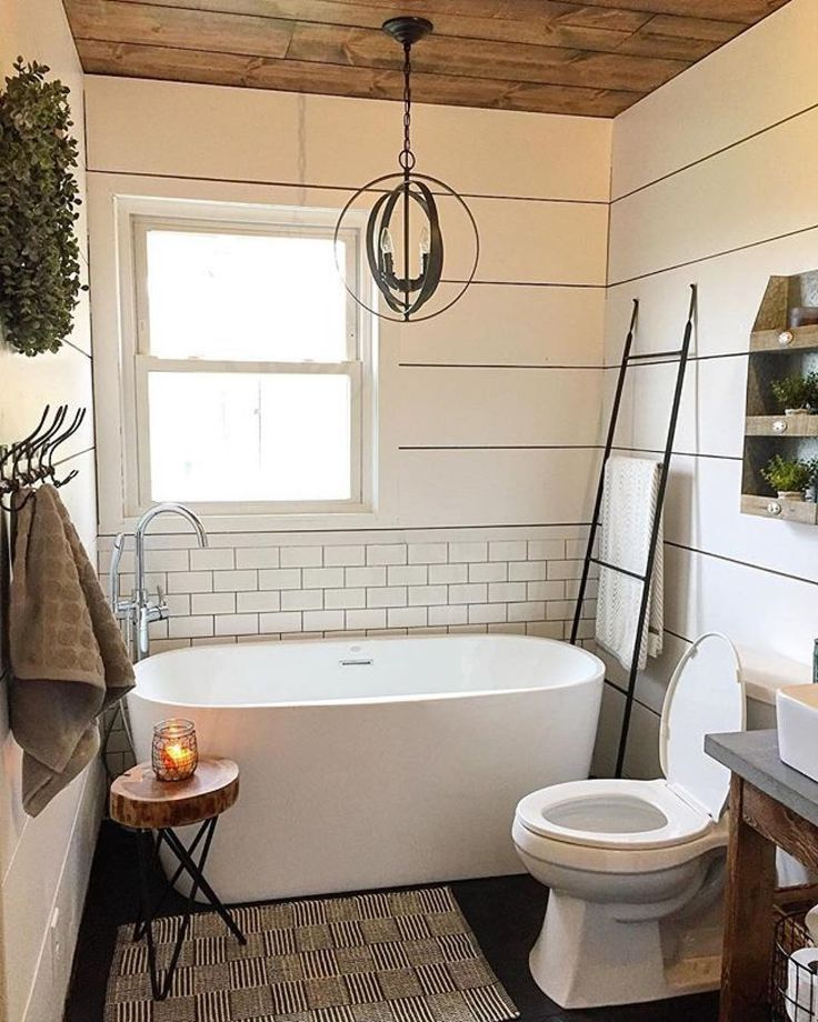 Browse bathroom designs and decorating ideas Discover inspiration for your bathroom remodel including colors storage layouts and organization - farmhouse bathroom designs