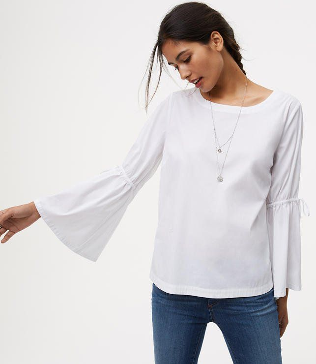 4c640db2ea0428 LOFT s feminine   trendy white tops perfectly complement your wardrobe.  Shop fashionable women s white tops to complete your perfect outfit—for  work