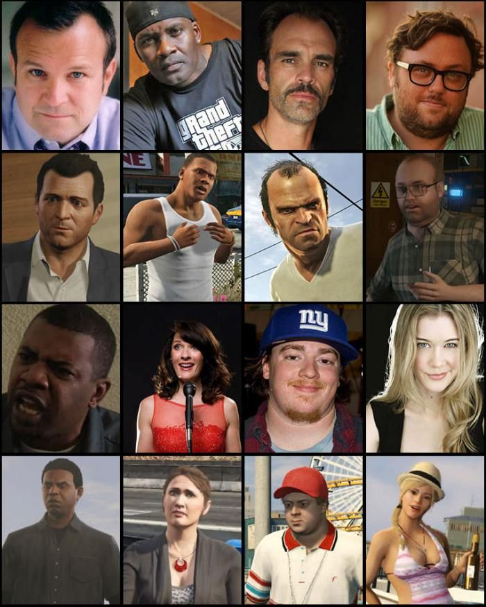 GTA V actors who play the game characters Gta, Grand