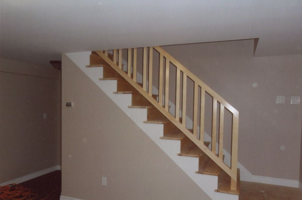 Basement Stairs Design: Removable Stair Rail