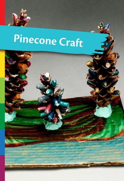 Create winter decorations out of pine cones! | winter kids crafts