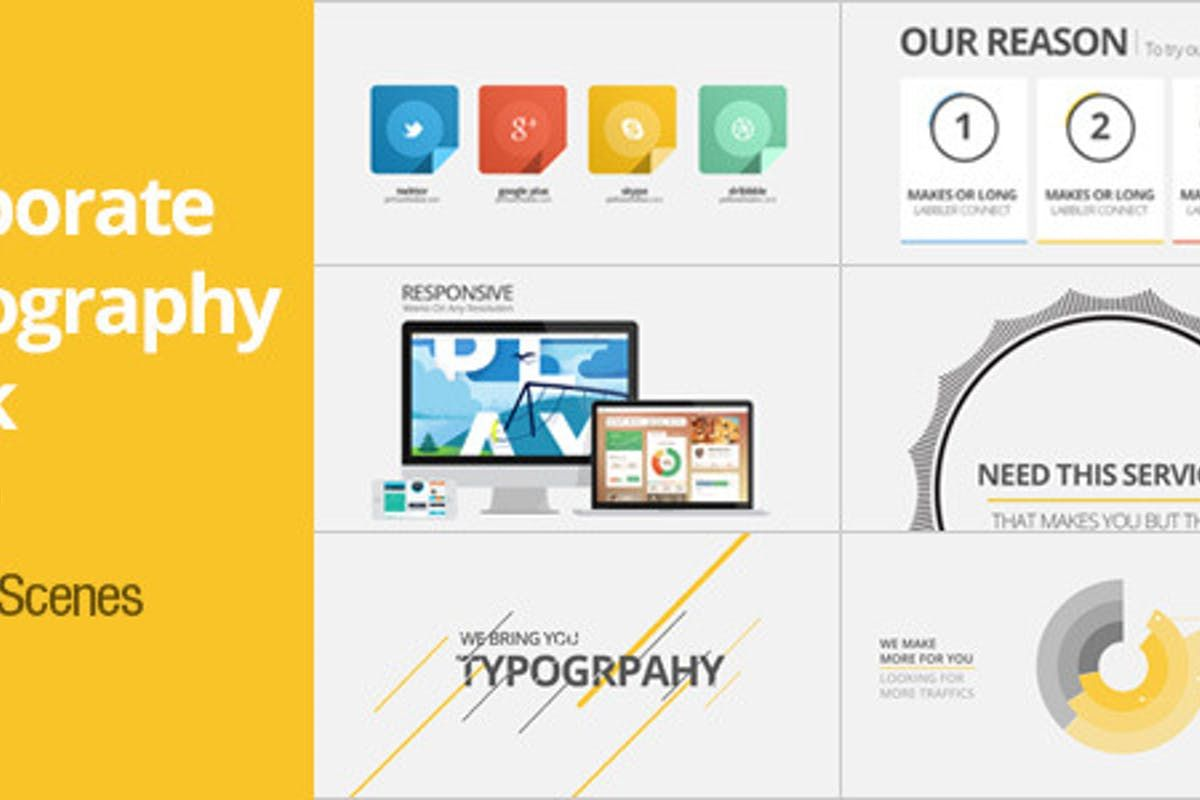 Corporate Typography Pack By Pixflow On Envato Elements Corporate Typography Typography Envato