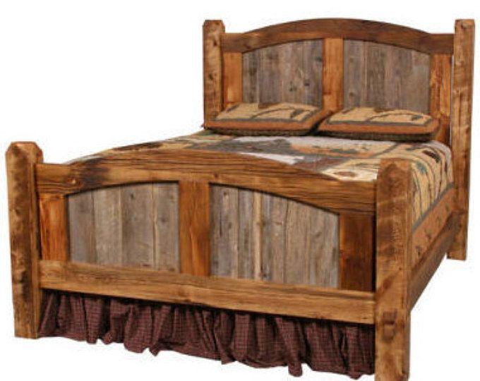Popular Natural Barn Wood Prairie Bed Arched Headboard Rustic Bed Rustic Bedroom Photos - Elegant barnwood bedroom furniture Idea