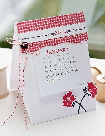 Calendar Basics Revisited Mini Calendars Card Craft Paper Crafts