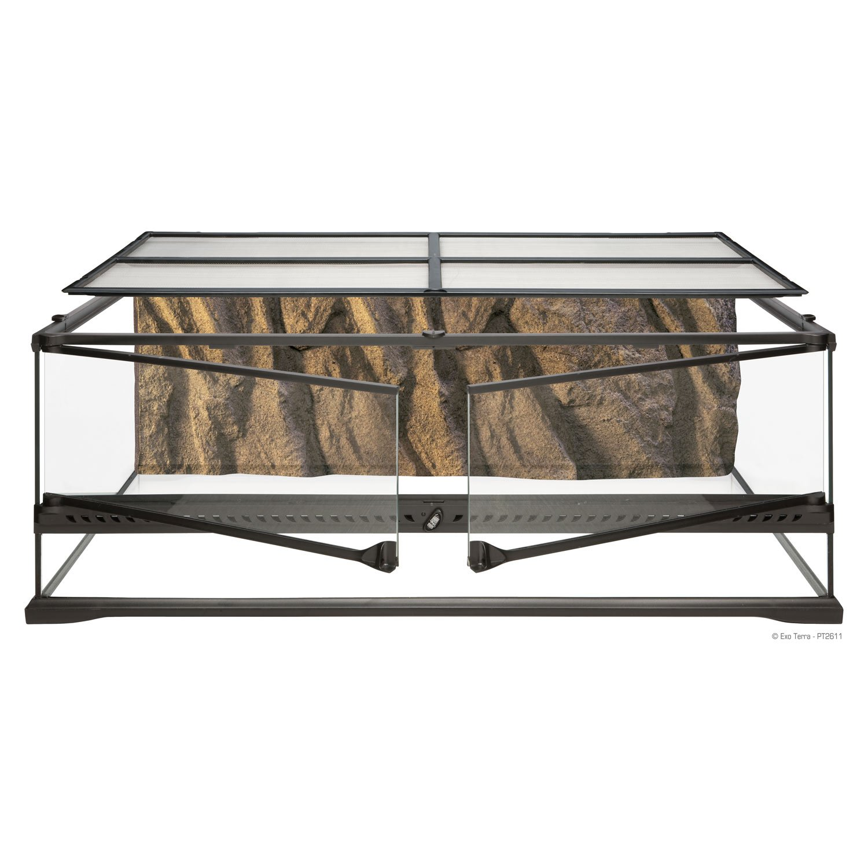 Largelow 36 L X 18 W X 12 H Glass Terrarium With Dual Doors