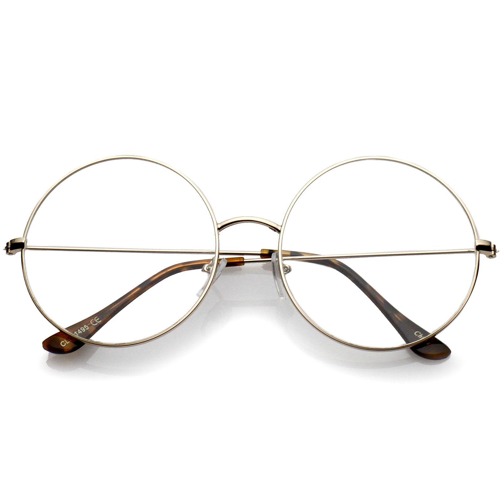27ab2038943 Classic Oversize Slim Metal Frame Clear Flat Lens Round Eyeglasses 56mm   frame  clear  oversized  bold  purple  sunglasses  cateye  sunglass   sunglassla   ...
