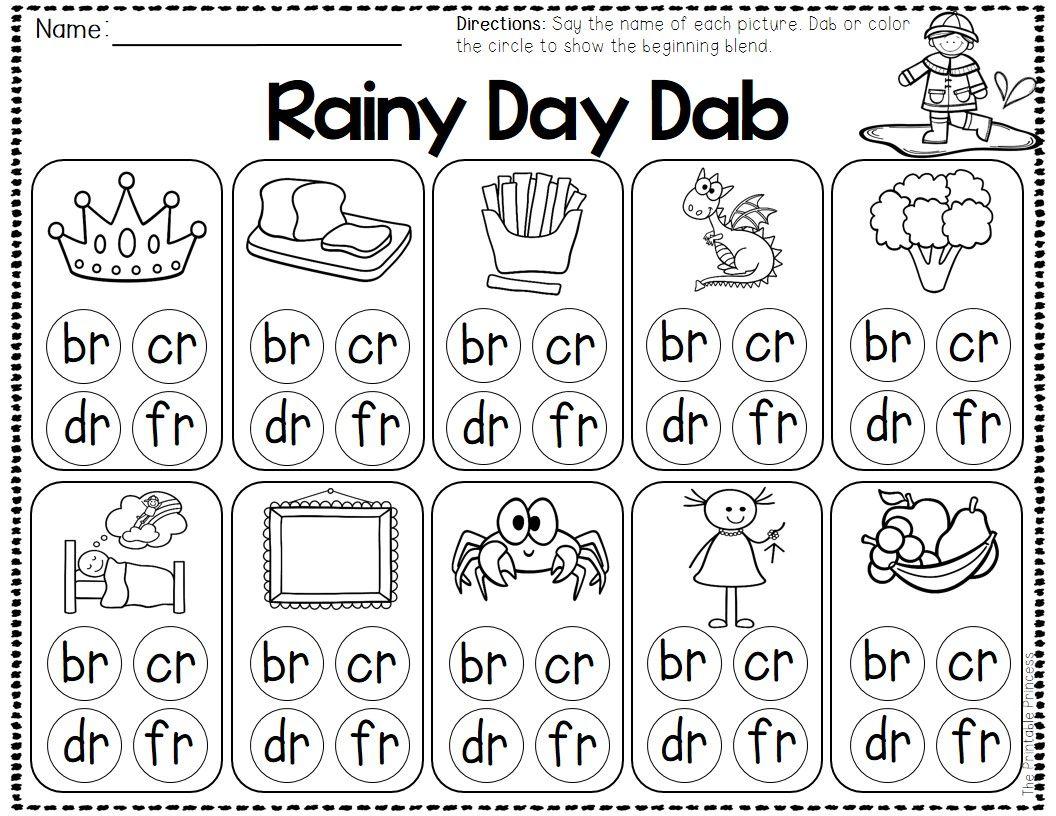 Pin By The Printable Princess On First Grade Literacy Blends Worksheets Kindergarten Worksheets Consonant Blends Worksheets