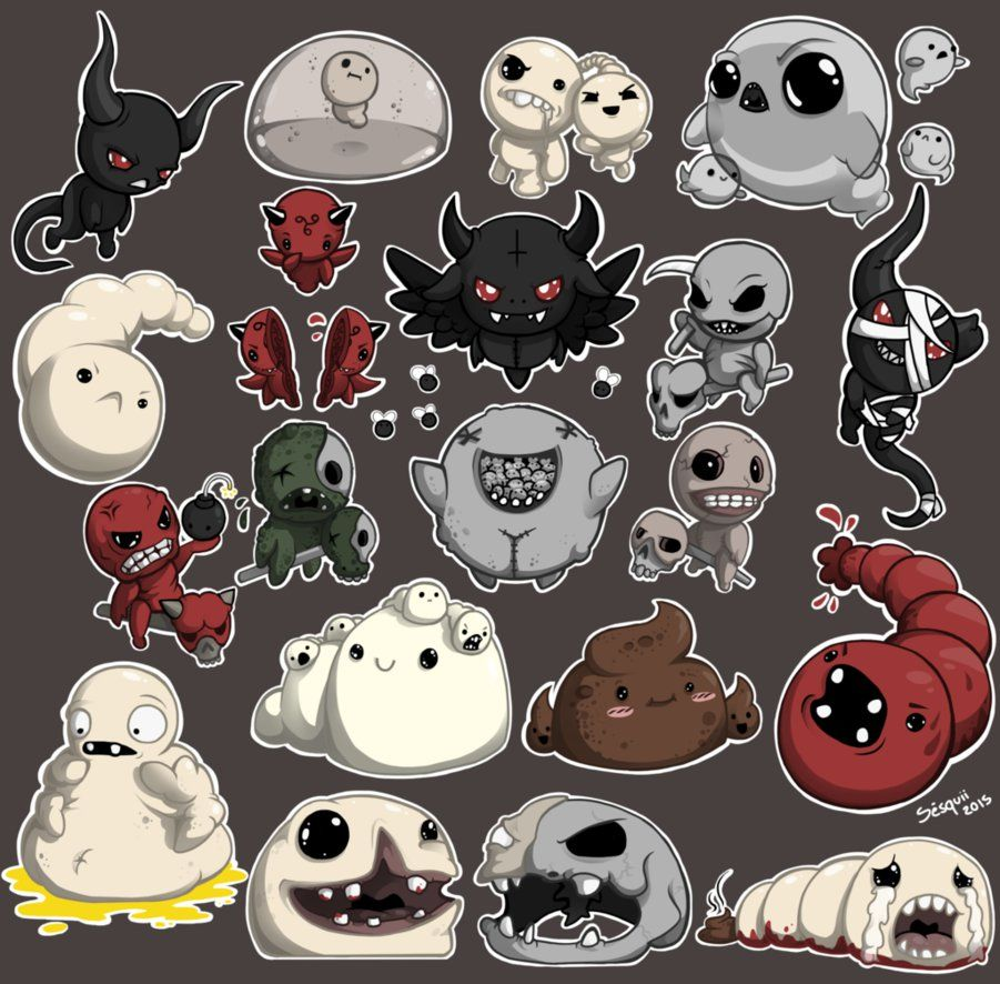 The Binding Of Isaac, Sticker Set, Isaac
