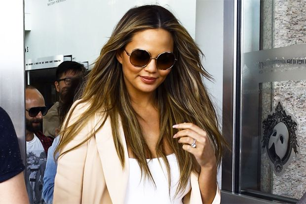 Chrissy Teigen and Her Baby Bump Lead Today's Star Sightings