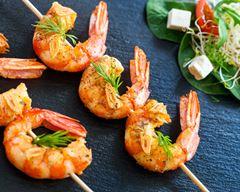 Brochettes de crevettes pour apéritif dînatoire # ...