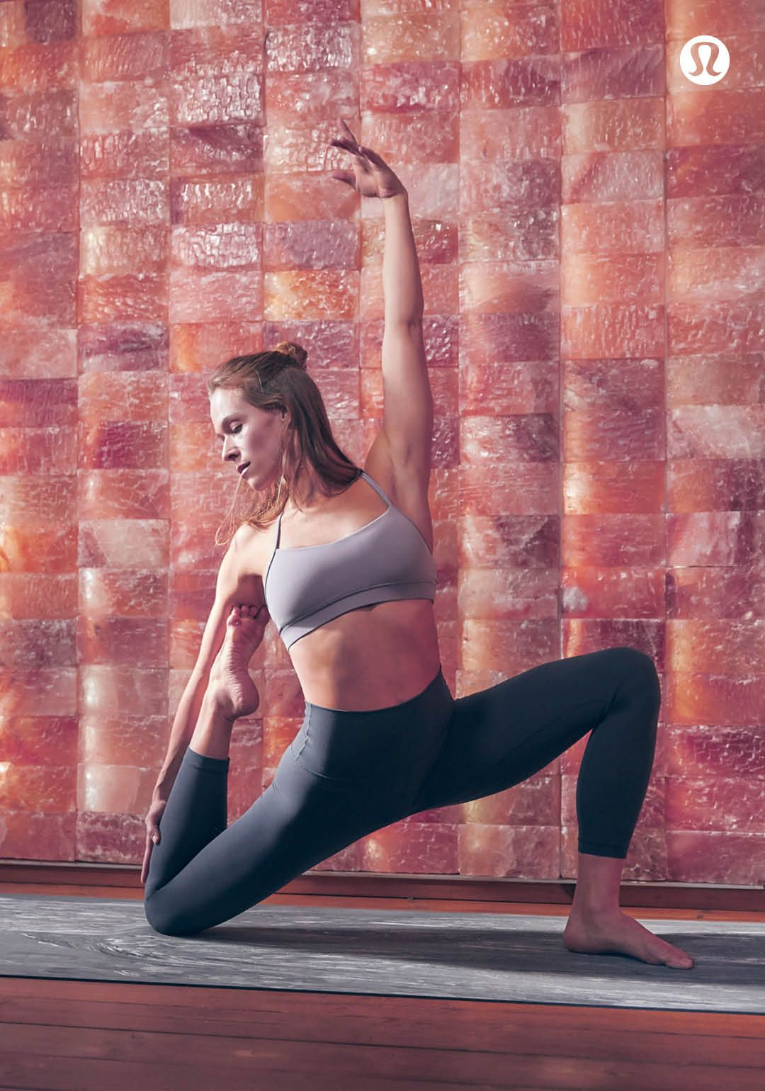 Strong meets soft. Flow through your practice in the Flow Y Bra (now in Nulu fabric).