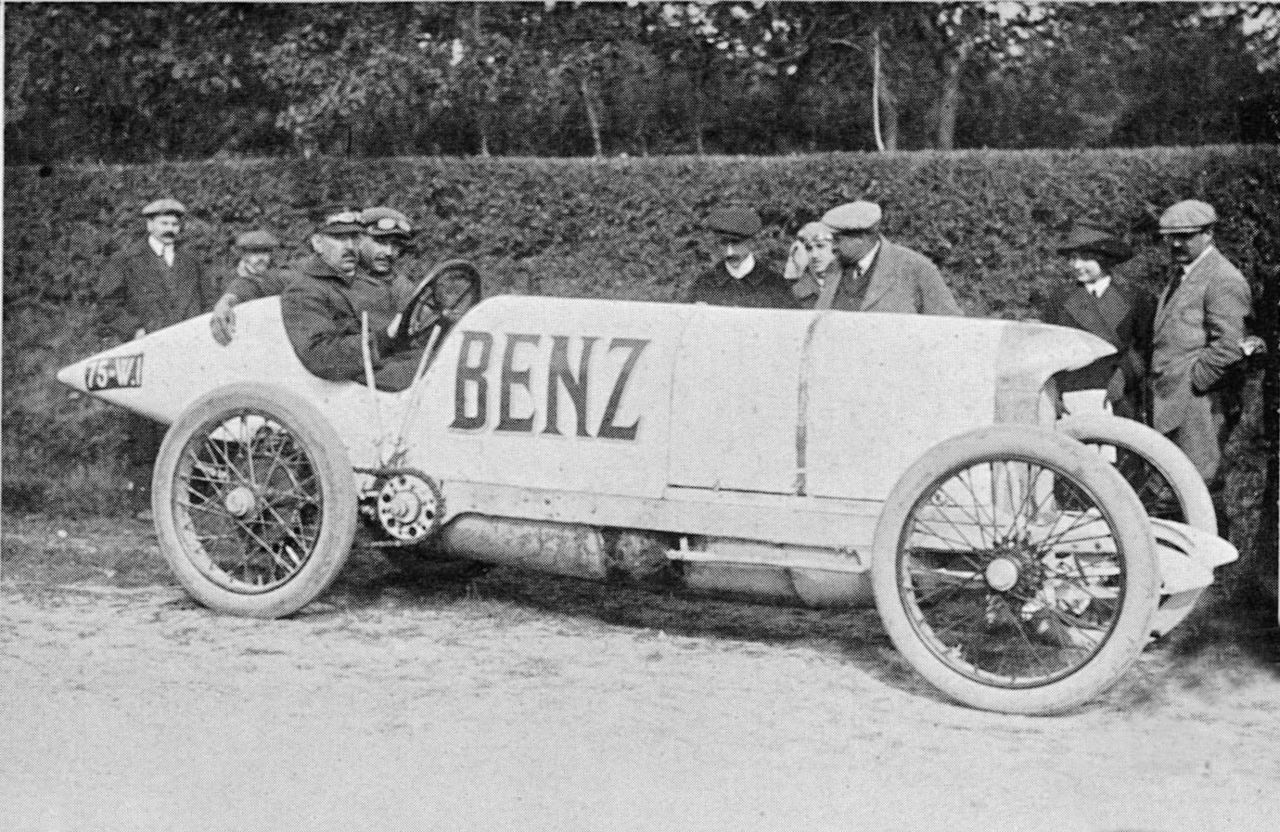 The #BlitzenBenz was a race car built by Benz & Cie. in 1909. With ...