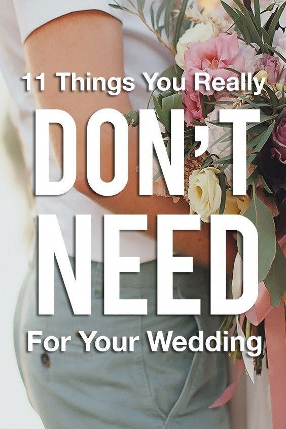 Photo of 11 artículos que realmente no necesita para su boda: ¡ahorre dinero para su luna de miel!