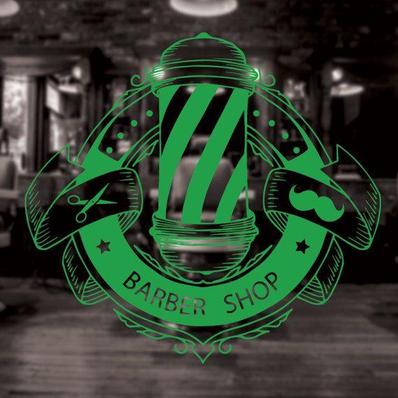 Barber Shop Sign, barber shop decor, barber shop decal | El ...