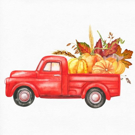 Harvest Truck Thanksgiving Clipart, Autumn Clip Art ...