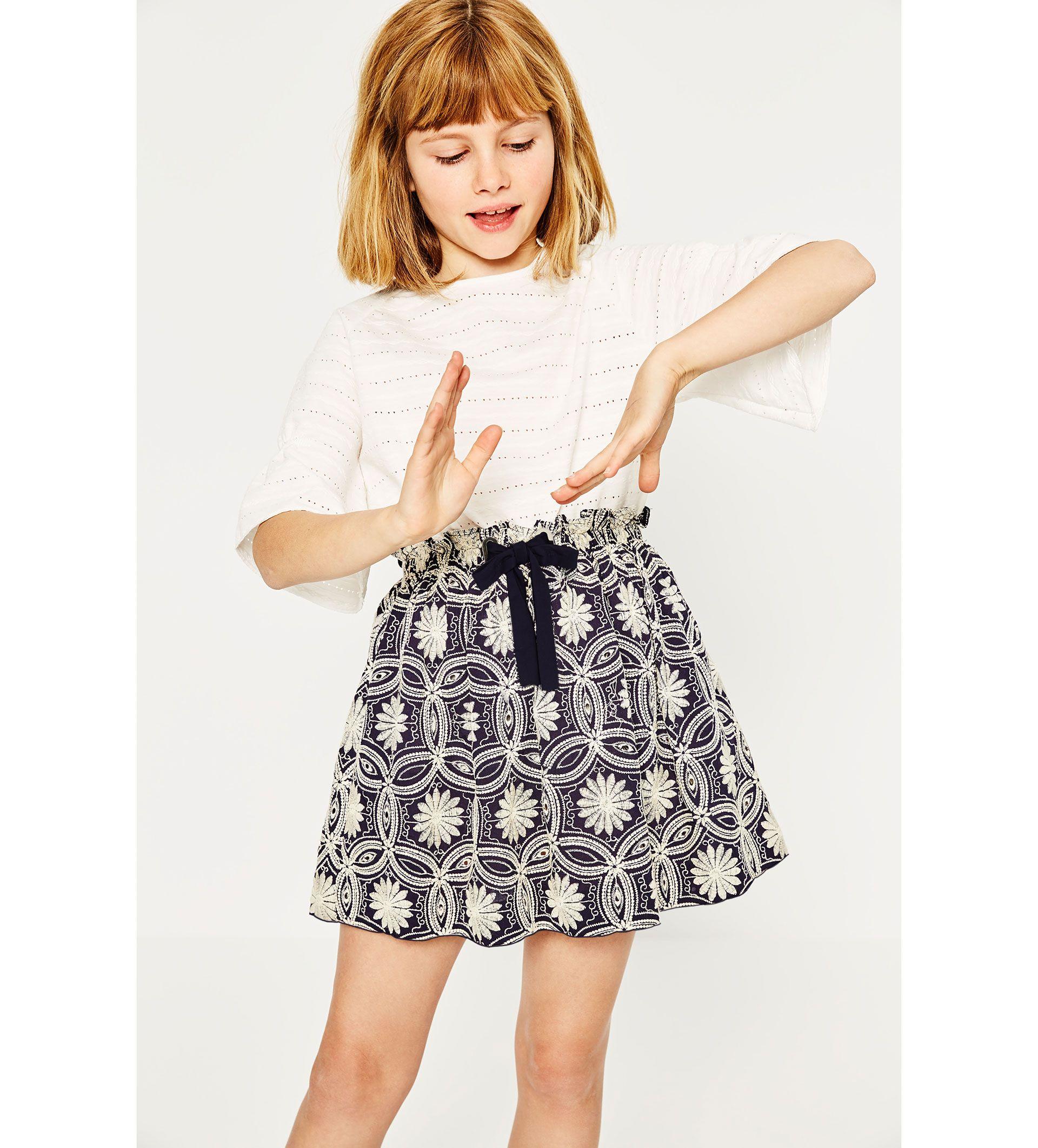 moda infantil zara faldas