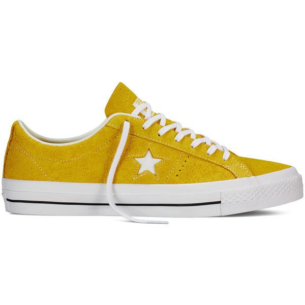 050eeba26171a Converse CONS One Star Hairy Suede – yellow white gum Sneakers ( 70) ❤  liked on Polyvore featuring shoes