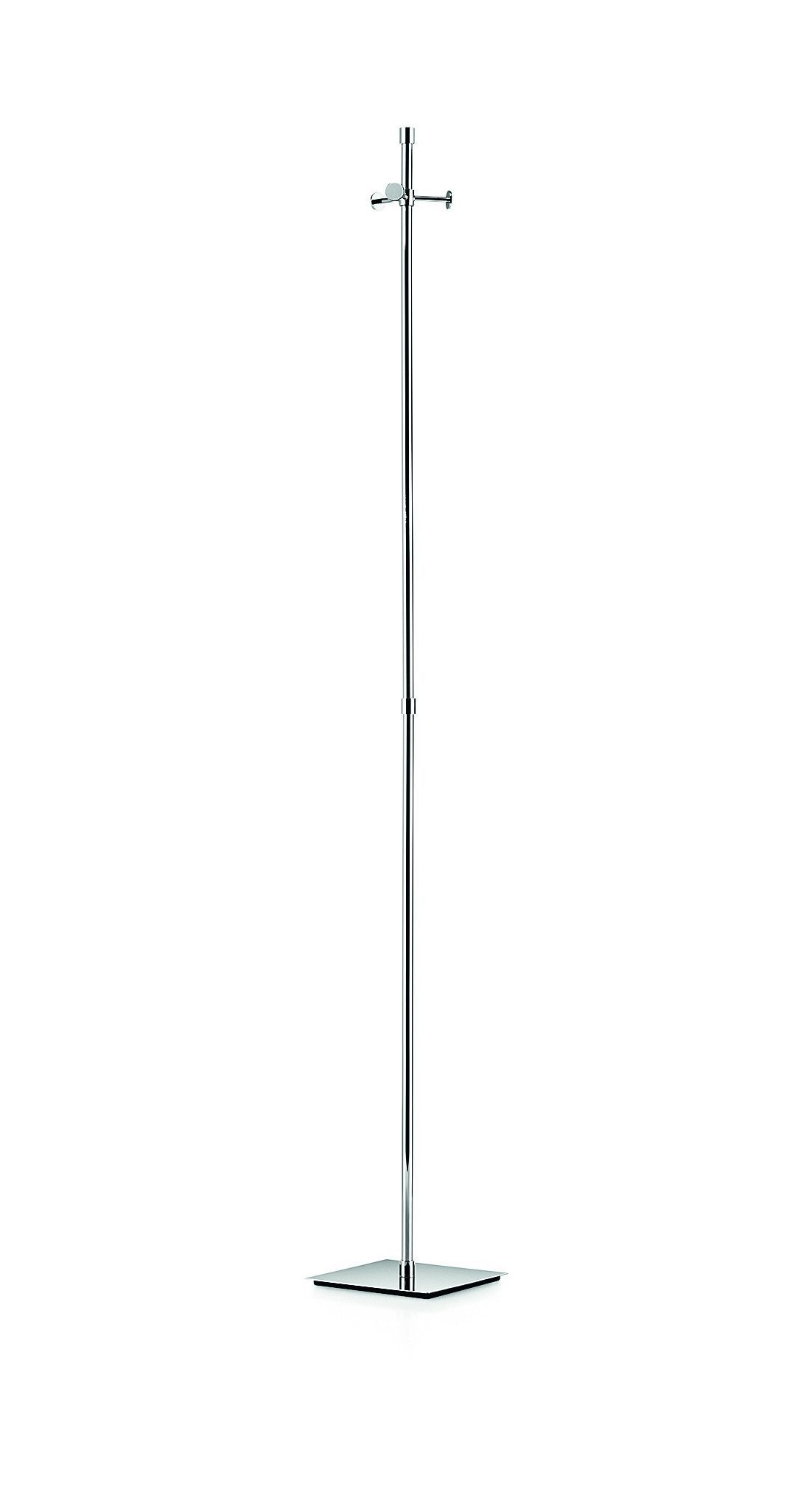 02480d0d0fb Linea Brass Metal Coat Rack Stand Tree Hanger Holder W  3 Hooks Square  Base
