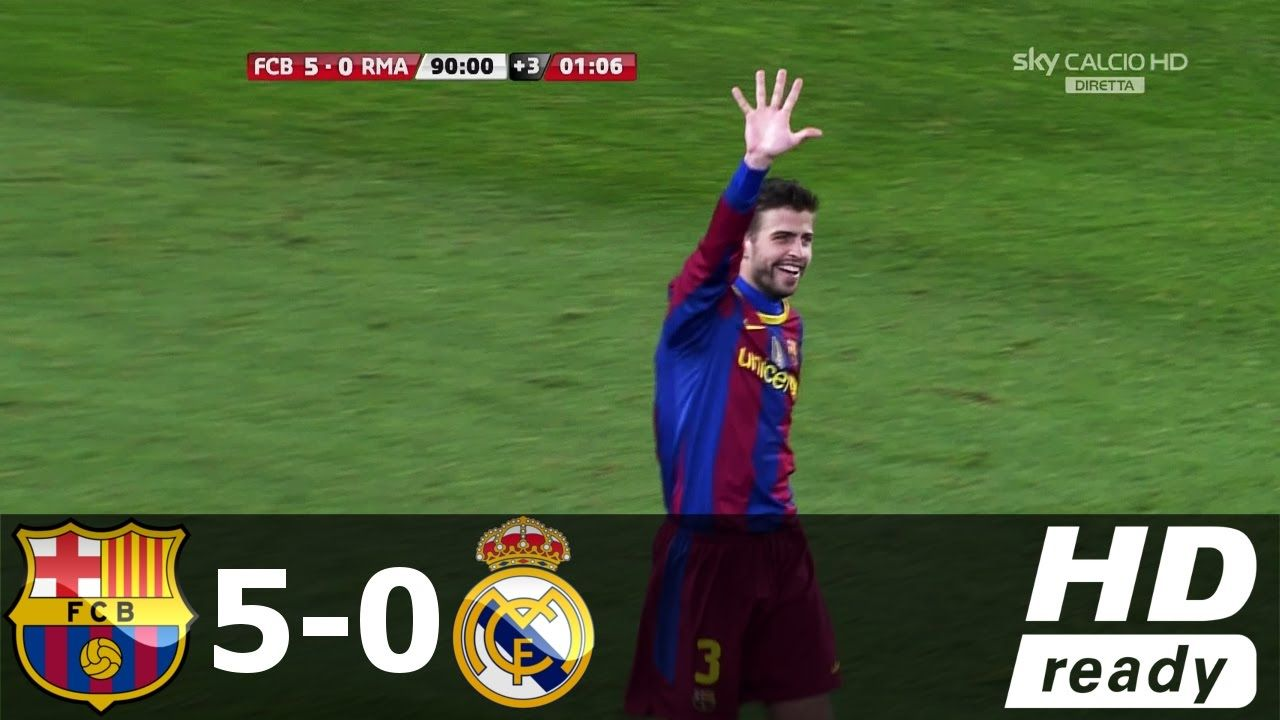 Sofa Score Real Madrid Barcelona Barcelona Vs Real Madrid 5 All Goals Extended Highlights