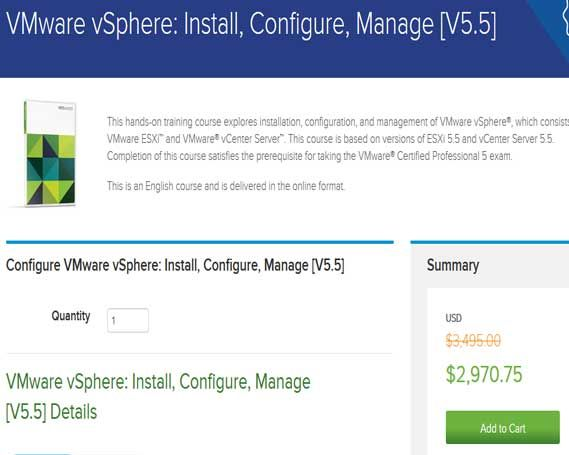 Save 15% on VMware vSphereTraningkit. You can get benefits of 15% on VMware software by using VMvare Promo Offers and Coupon codes. when you plane for buy this type software then fires you should check the offers here then buy VMware products because here is always available updated offers coupons and promo codes for your best saving.