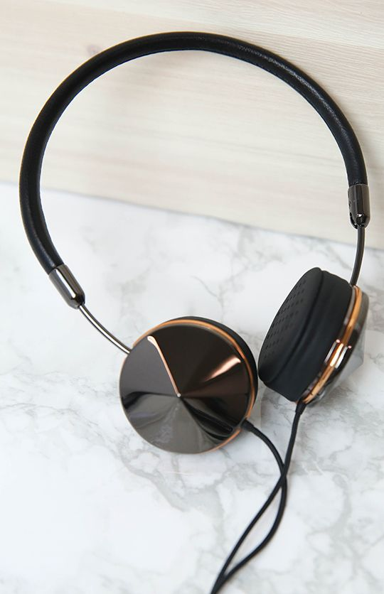 Frends - Layla Headphones - Gunmetal/Rose Gold | Apartment | Peppermayo