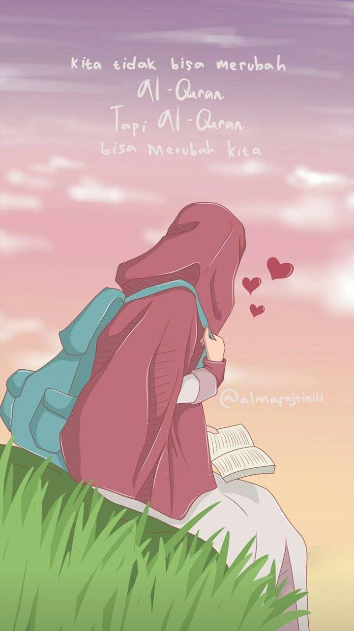 Pin Oleh Velina Ivy Di Anime Muslimah Elit Seni Islamis Ilustrasi Kartun Kartun