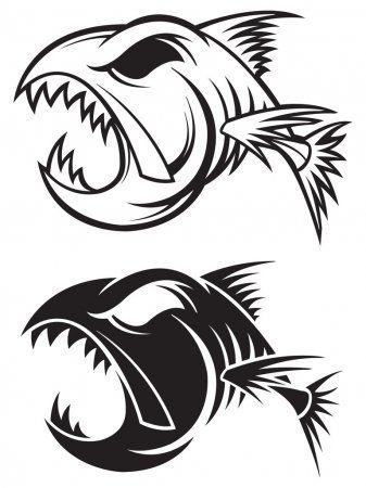 Fish Skeleton Stock Illustration En 2020 Arte De Peces Dibujos Tribales Ilustracion Vectorial
