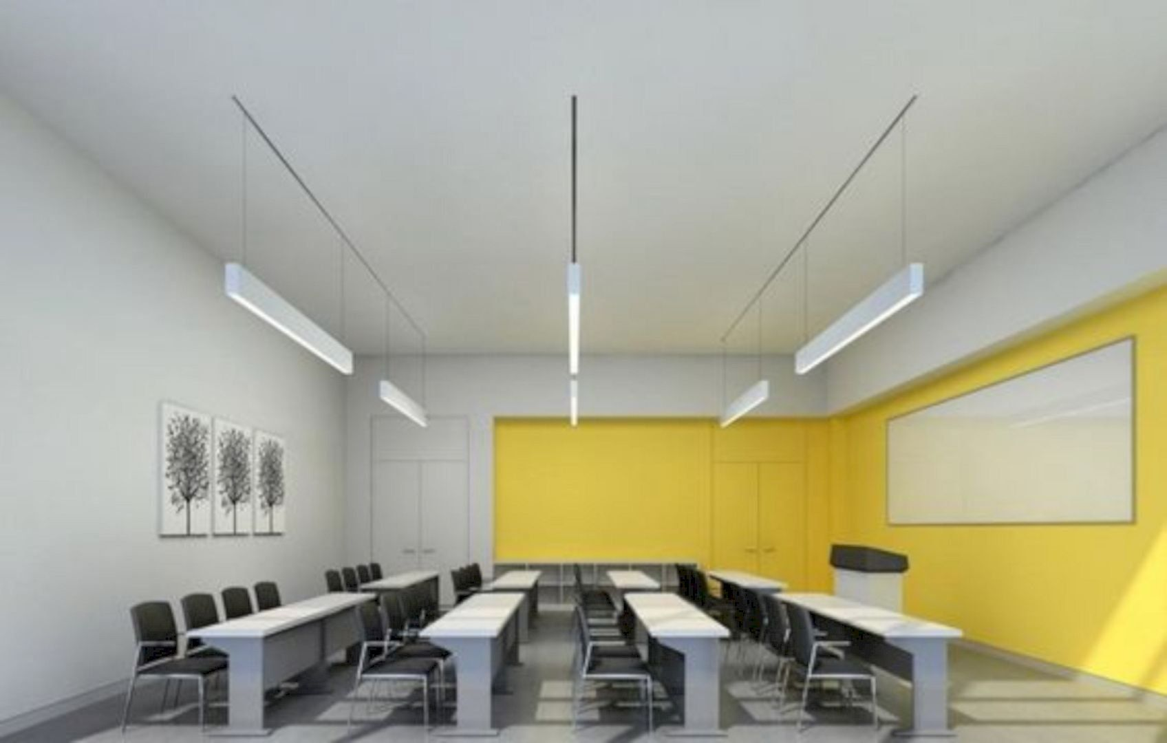 17 Interior Design Ideas for An Enjoyable Classroom is part of Education design interior, Classroom interior, Living room design yellow, Interior design school, Modern classroom, Interior design living room - A classroom is a place where you learn something new and gains knowledge of whatever it is you wish to know more  It can be in the school, college, or more on a professional level  Regardless, to help