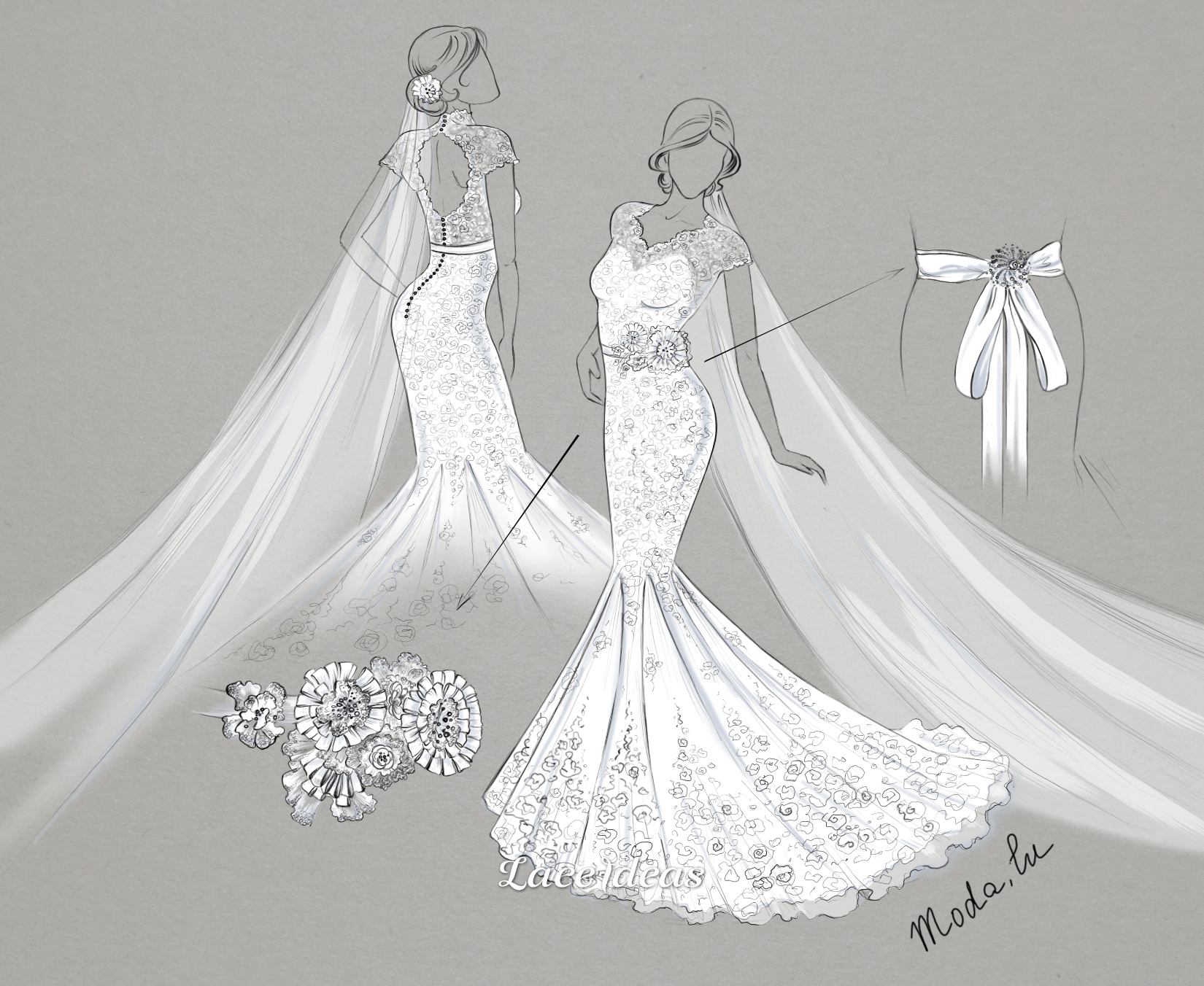 a wedding dress train patterns for making Google Search