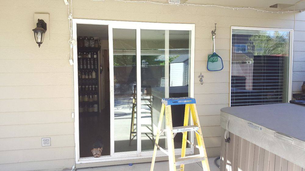 How To Replace Your Sliding Doors With French Doors Sliding Glass Door Replacement French Doors French Doors Interior