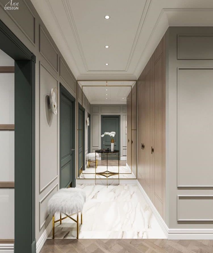 Couloir et hall   entree tendance relooking habitation vivahabitation inspirationdeco idmaison design architecte designinterieur also sophisticated room clasice in glass ider rh pinterest
