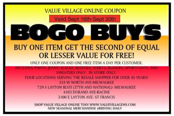 coupon value village
