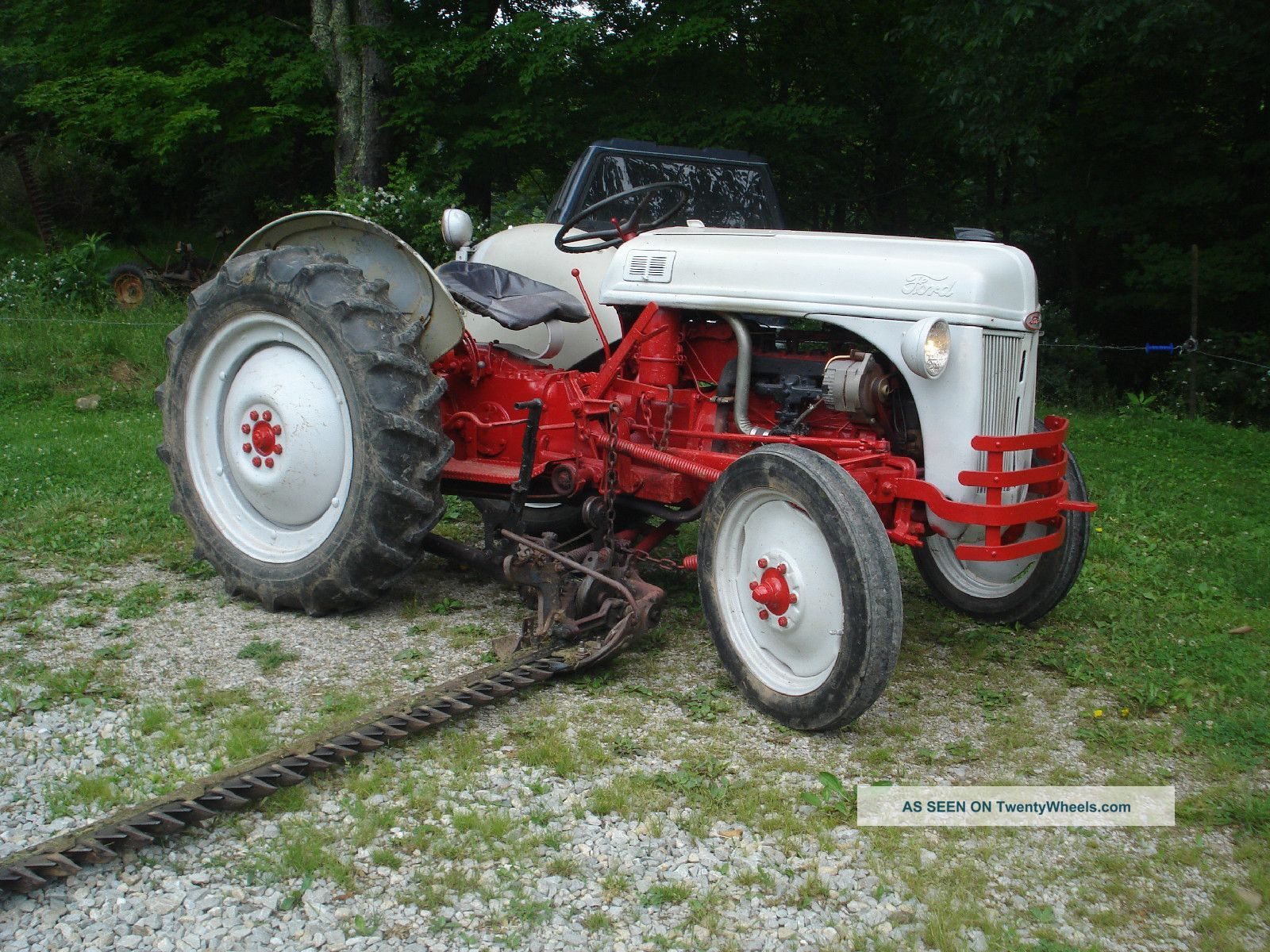 1949 Ford 8n Farm Tractor With Side Sickle Bar Finish Mower Antique &  Vintage Farm Equip photo