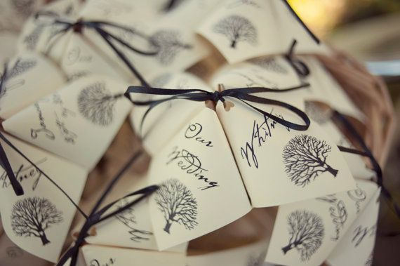 New Product In The Alchemy Hour Designs Cootie Catcher Wedding Programs
