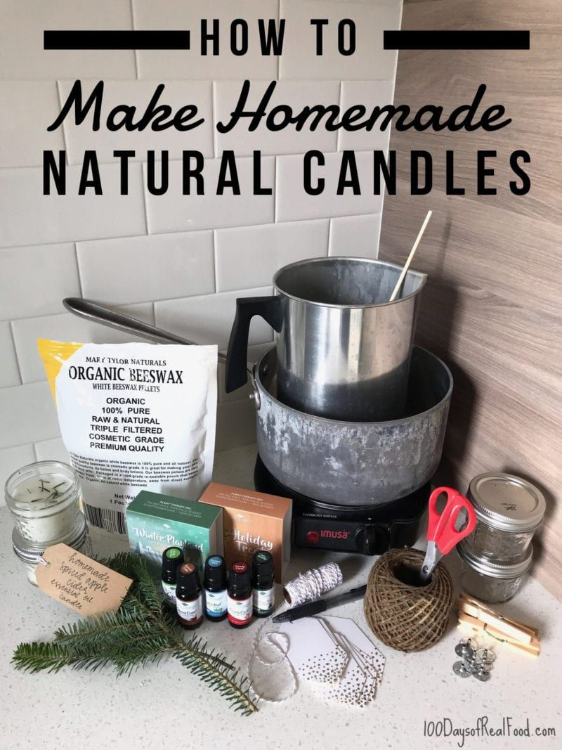 How to Make Homemade Natural Candles (a fun project & gift