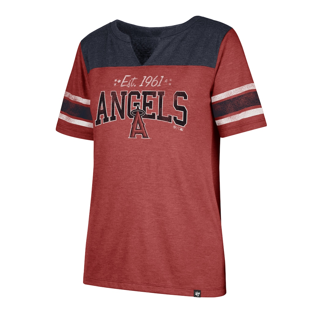 766b9c5e3 Women s  47 Brand Los Angeles Angels of Anaheim Match Tri-Blend Tee ...