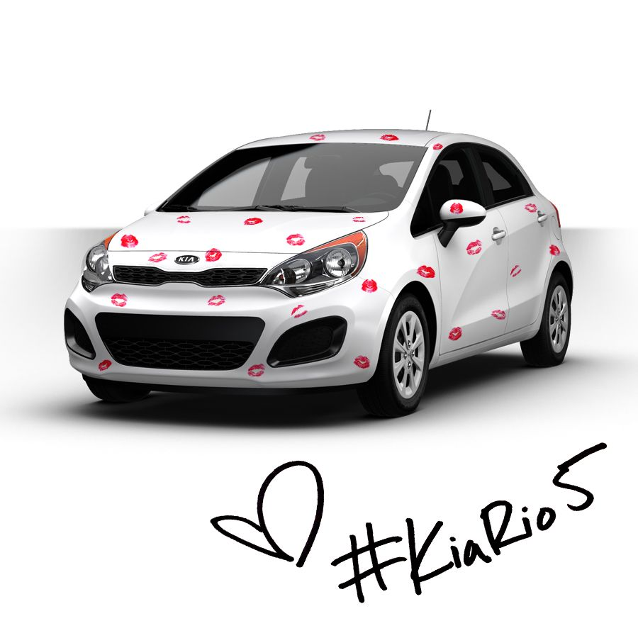 Happy Valentine S Day From Kia With Kisses Kia Rio Car Show Car