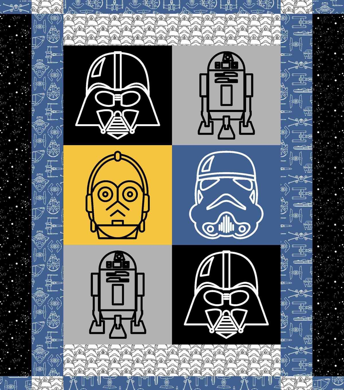 Star Warsa Character Quilt Kit Craft With Joann Pinterest