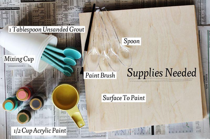 Chalkboard paint supplies