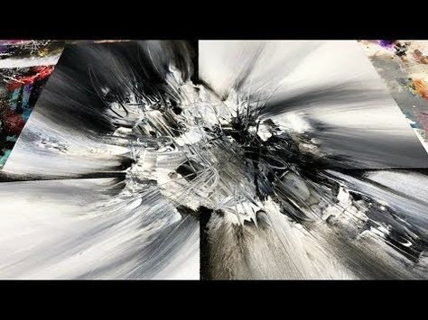 Abstract painting demo 63 subscriber request 2 abstract art black and white youtube fotografie pinterest paintings acrylics and acrylic