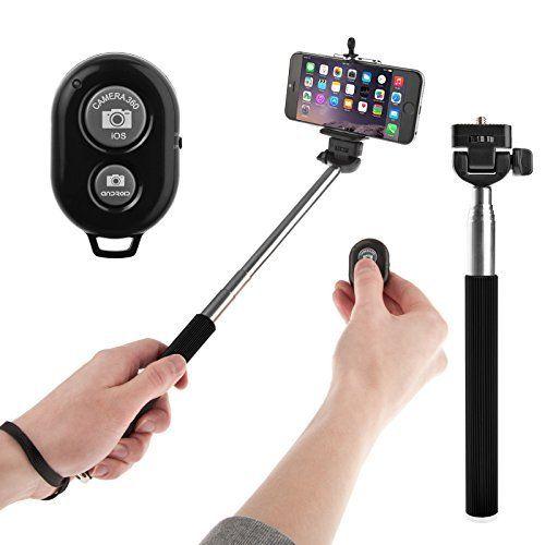 Yousave Accessories Selfie Stick - Handheld Telescopic Monopod With Bluetooth Remote Button & Mobile Phone Holder, http://www.amazon.com/dp/B00QFC6NE4/ref=cm_sw_r_pi_awdm_-3yCvb16H9VH5