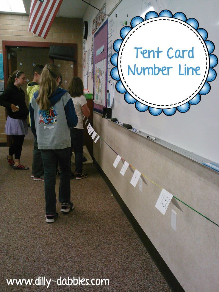 A tent card number line - great for comparing/ordering rational ...