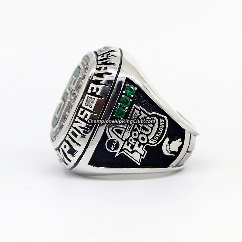 2007 Michigan State Spartans Men S Ice Hockey Ncaa National Championship Ring Michigan State Spartans Championship Rings National Championship