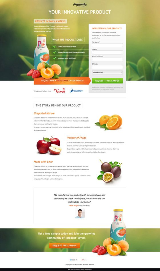 So You Think Youre A Landing Page Designer Templates Critiqued - Sample landing page template